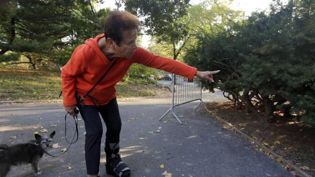 Hier lag der Bär: Entdeckerin Florence Slatkin im Central Park