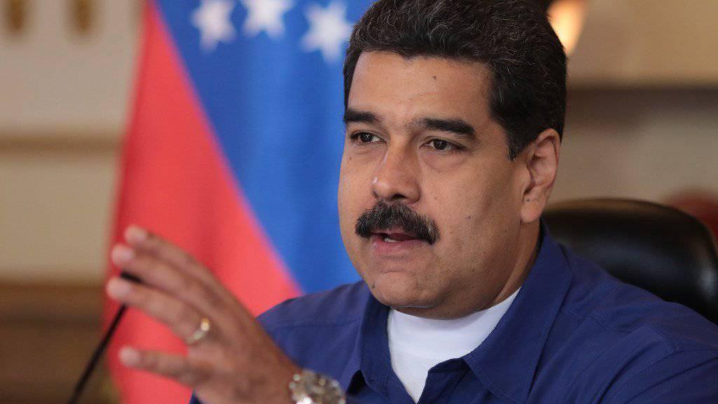 Venezuelas Präsident Nicolas Maduro weist Kritik der USA an seinem Führungsstil des Landes zurück.