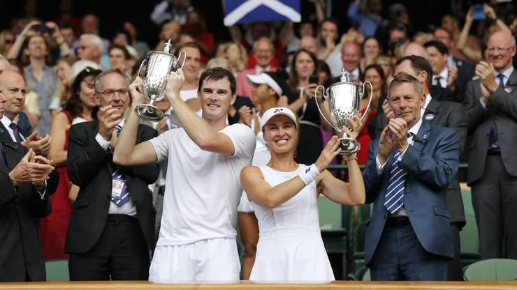 Martina Hingis hat mit dem Schotten Jamie Murray das Mixed-Doppel gewonnen.