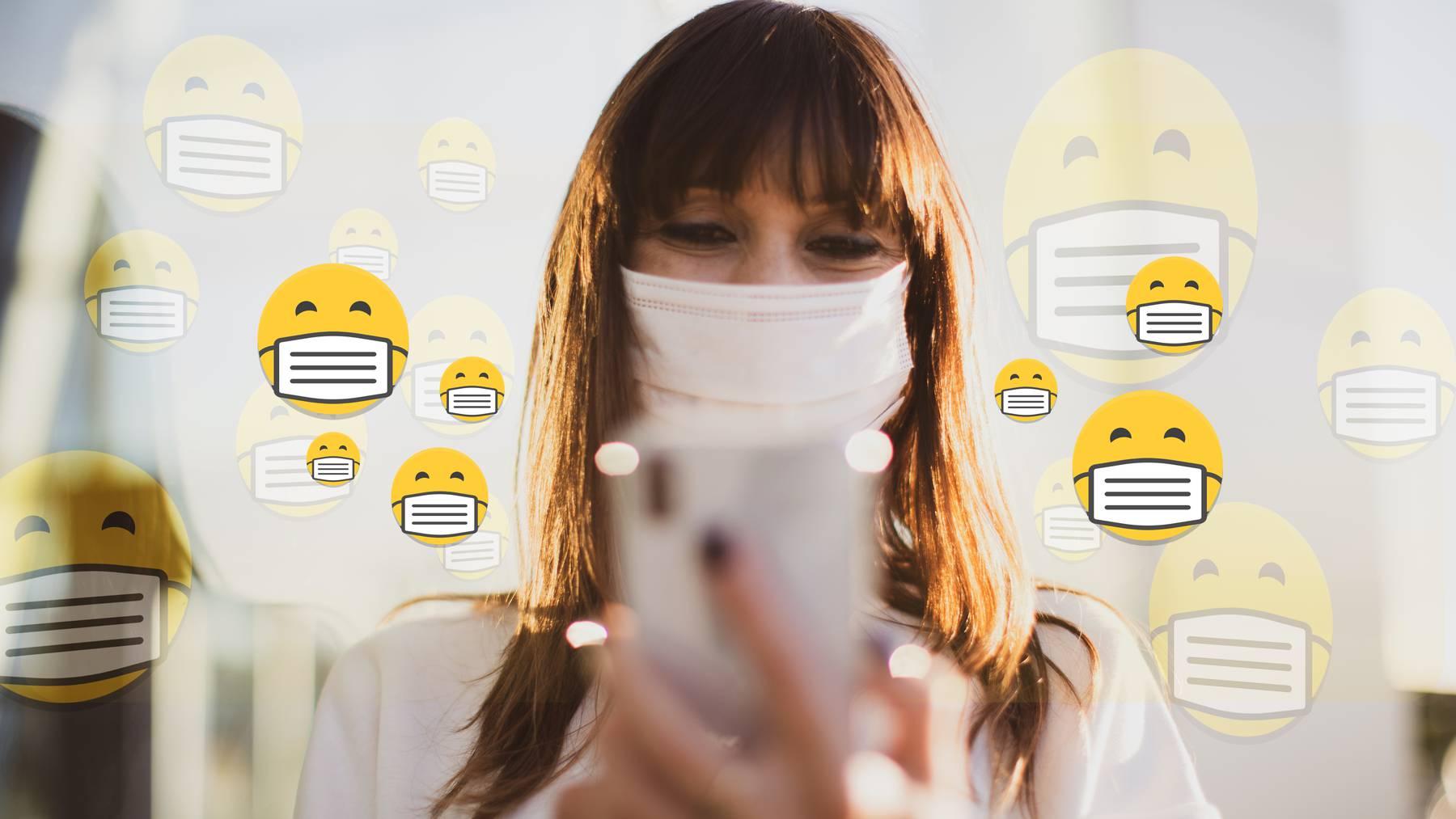 Gesichtsmaske Emoji