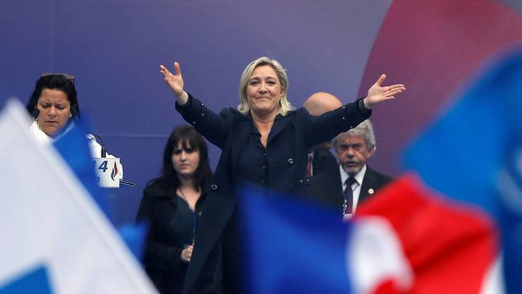 Marine Le Pen: «Sie hat die Statur von Angela Merkel», sagt ihr Vater Jean-Marie Le Pen.