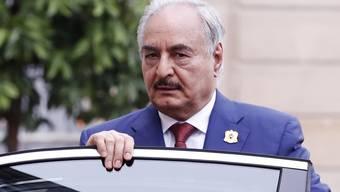 Seine Truppen marschieren zur Zeit auf die Hauptstadt Tripolis zu: General Chalifa Haftar.