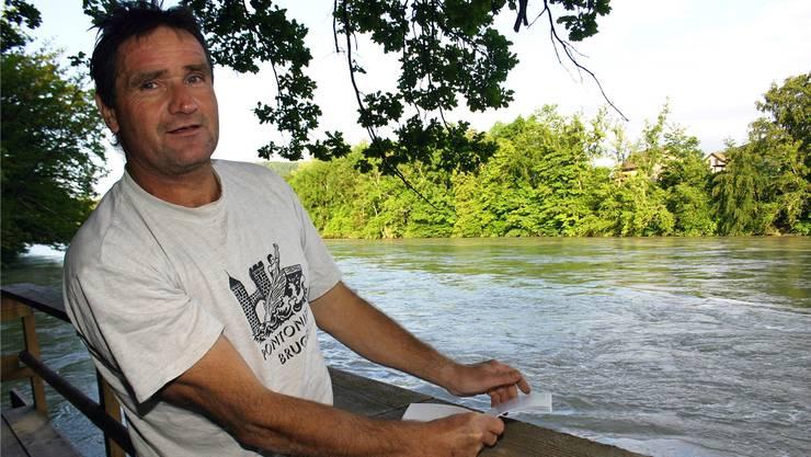 «Wir haben Glück gehabt»: Peter Lüscher freut sich, dass alle Parcoursbauten vom Hochwasser verschont geblieben sind. louis probst
