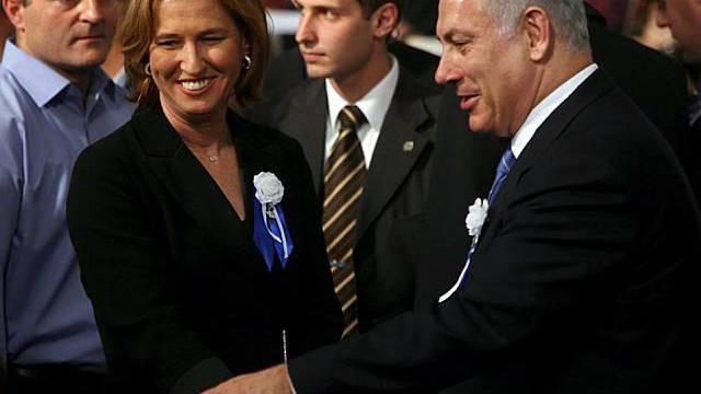 Livni und Netanjahu (r)