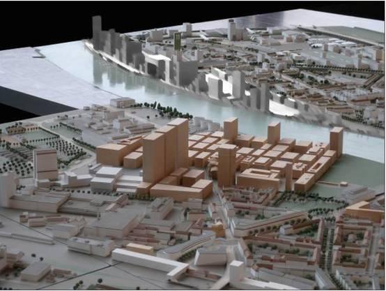Von Westen Über dieses Stadtmodell entschied das Parlament 2010.