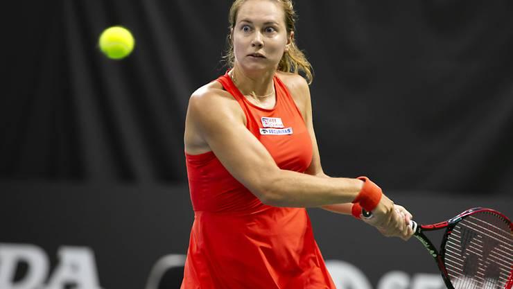 Stefanie Vögele trifft mit der Griechin Maria Sakkari in der Startrunde auf eine gesetzte Spielerin