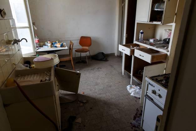 Küche in einer der leerstehenden Wohnungen