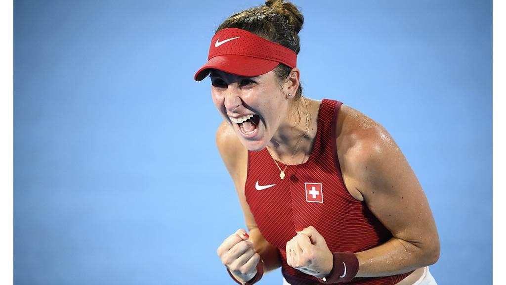 Nach dem emotionalen Olympiasieg auch in Cincinnati auf der Erfolgsspur: Belinda Bencic