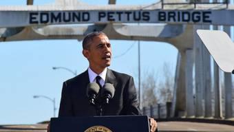 Präsident Obama spricht in Selma vor symbolträchtiger Brücke