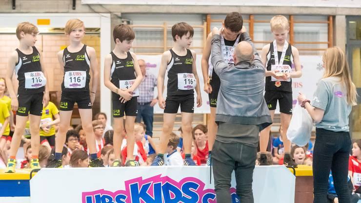 In der Kategorie U10 Boys gewannen die Mitglieder des LA Mutschellen.