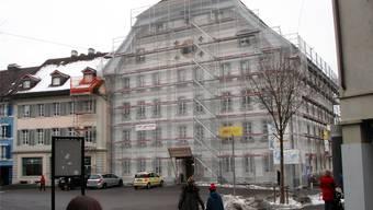 Wasser flutete die oberen zwei Stöcke des KV-Gebäudes.Fritz Thut