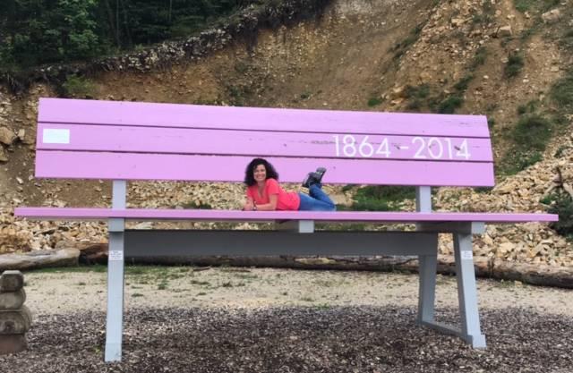 Yeahh hab eine Sitzbank für mich alleine gefunden :-)  Waldenweide Wasserfallen Baselland  5.9.2017