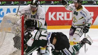 Mit vollem Einsatz: Olten gewinnt 6:2 gegen Thurgau.