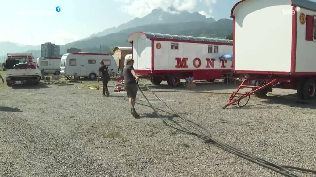 Zirkus Monti schlägt seine Zelte in Luzern auf