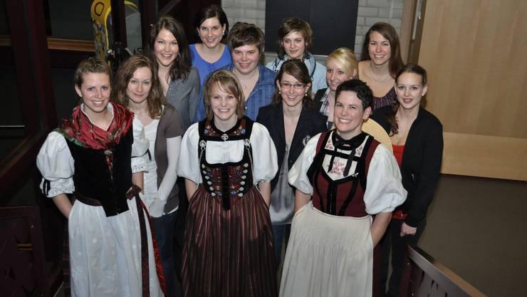 Die Absolventinnen des Winterkurses am Wallierhof.
