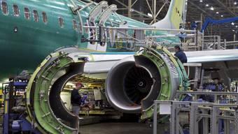 Eine Werkhalle von Boeing in Renton im US-Bundesstaat Washington. (Archiv)