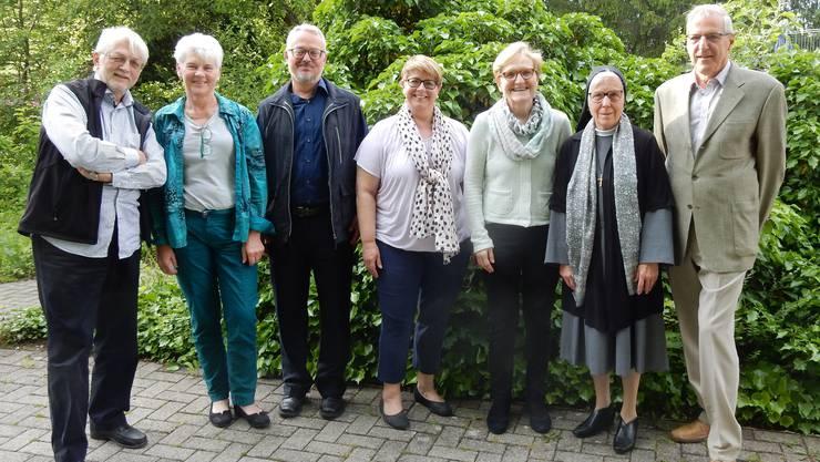 Der Vorstand des Vereins wabe Limmattal: Bruno Gächter, Alice Bösch, Markus Binder-Peier, Edith Herren, Monika Frick, Sr. Elisabeth Müggler, Peter Heinzer