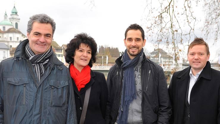 Die Macher des Weihnachtsmarktes (v.l.): Kurt und Ursula Steiner,Martin Tschumi und Thomas Schärer.
