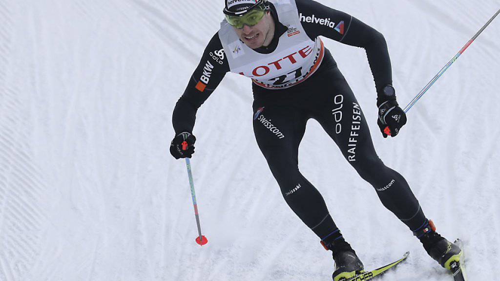 Gianluca Cologna verpasste mit Erwan Käser beim Teamsprint in Pyeongchang eine Top-10-Klassierung