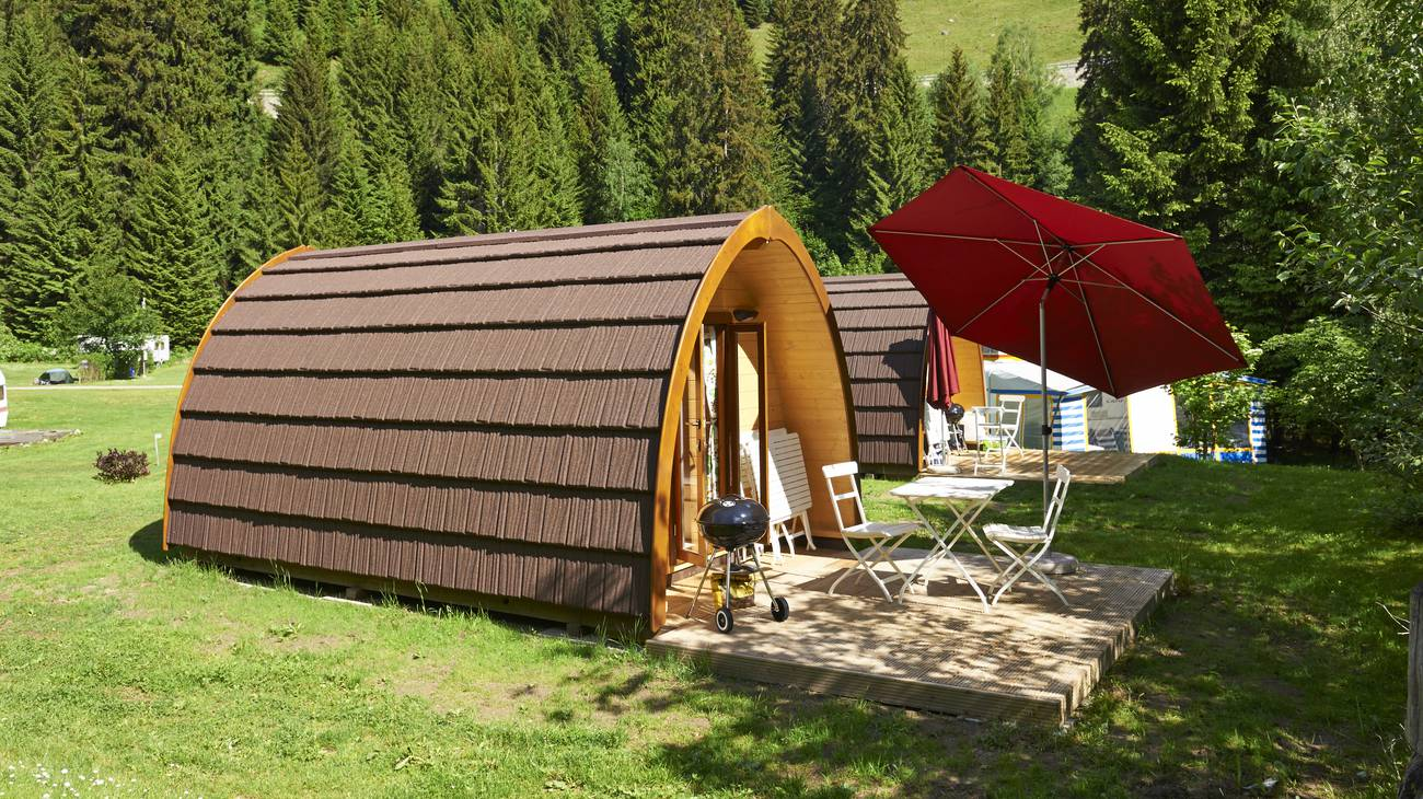 Glamping Haus am See Camping Graubünden Schweiz