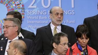 US-Notenbank-Chef Ben Bernanke beim Frühjahrestreffen des IWF