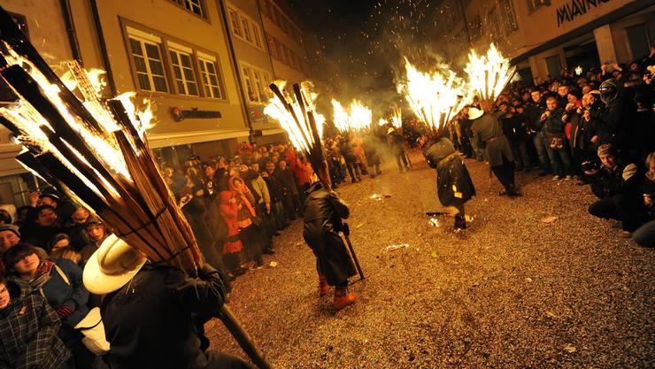 Eindrückliches Feuerspektakel im Liestaler Stedtli. (Archiv)