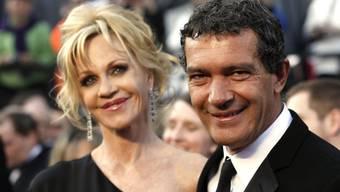 Melanie Griffith und Antonio Banderas an der Oscar-Verleihung 2012