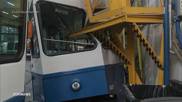 Rätselhafter Tramunfall im VBZ-Depot