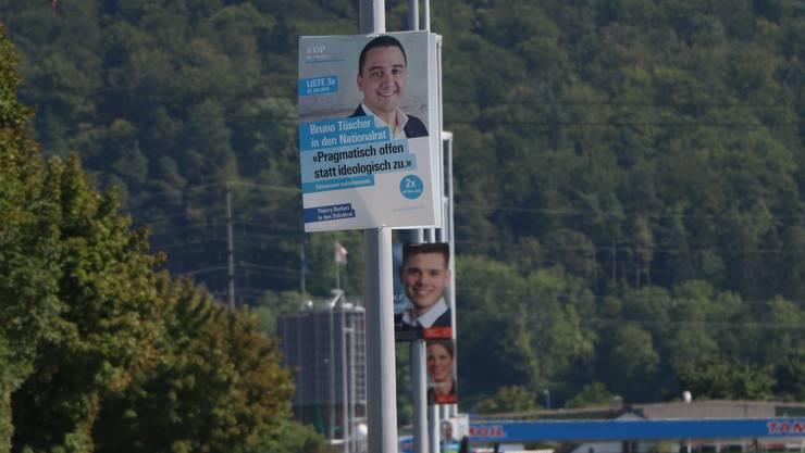 Die Plakate werden seit Sonntag von den Kandidierenden und ihren Teams wieder abgebaut.