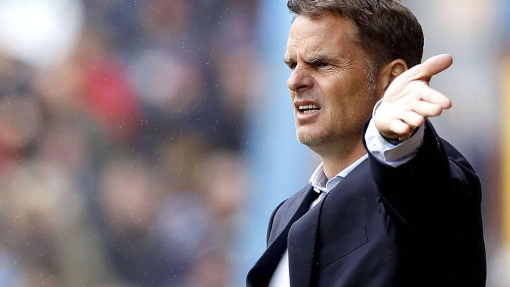 Frank de Boer war nur für vier Meisterschaftsspiele Trainer von Crystal Palace.