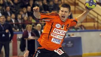 Nikola Cvijetic gewinnt mit den Kadetten in der Saalsporthalle