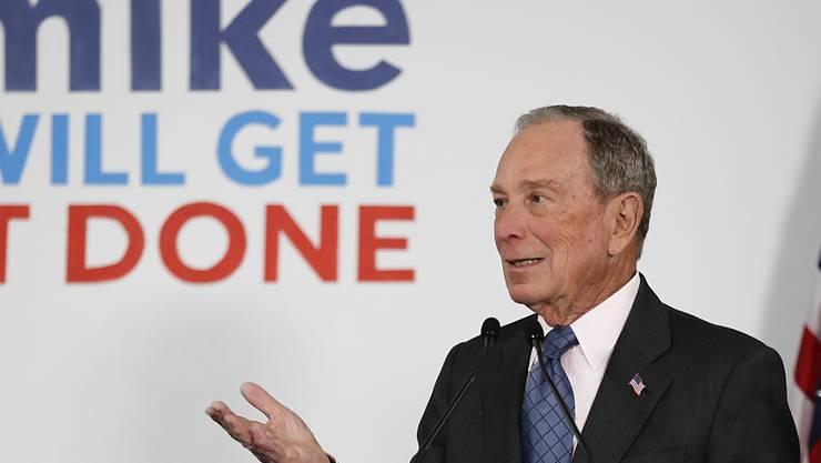Soll 20-mal reicher sein als der amtierende US-Präsident Trump: Herausforderer Michael (Mike) Bloomberg.