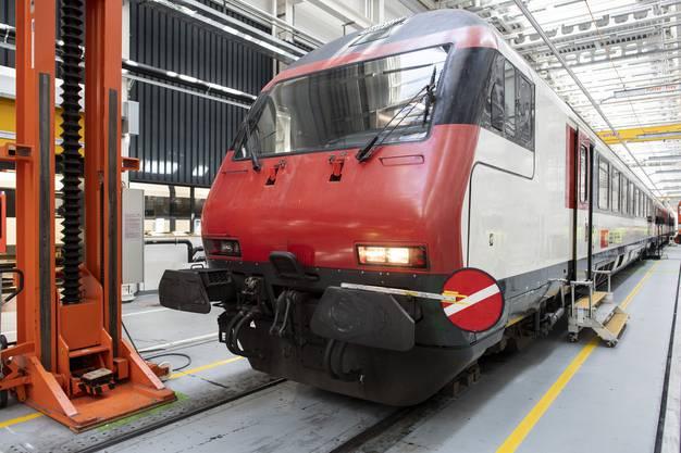 Ein Zug steht anlässlich des Medientermins bereit.
