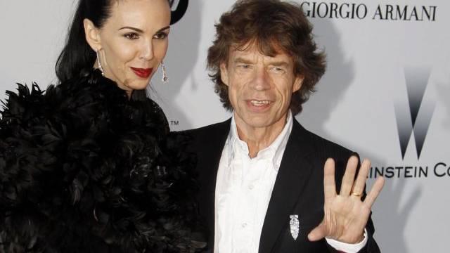 Mick Jagger und L'Wren Scott im Jahr 2010 (Archiv)