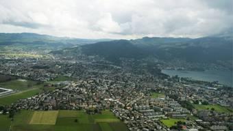 Sicht auf die Agglomeration der Stadt Thun (Archiv)