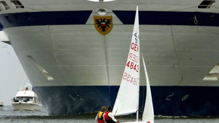 Das Feuer brauch auf einer deutschen Fähre in der Ostsee vor Travemünde aus. (Symbolbild)