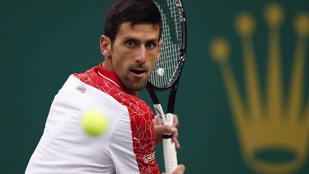 Novak Djokovic zeigt im Video seine neuste Trainingsmethode.