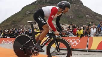 Fabian Cancellara nimmt seine Olympia-Goldfahrt von Rio in Angriff. (Archivbild)
