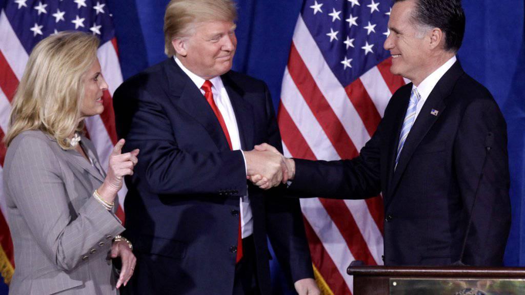 Kann trotz Kritik auf die Unterstützung von US-Präsident Donald Trump zählen: der republikanische Senats-Kandidat und frühere Präsidentschaftsanwärter Mitt Romney aus Utah. (Archivbild)