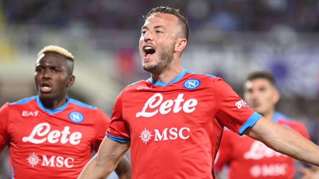 Napolis Amir Rrahmani bejubelt das entscheidende 2:1 in Florenz