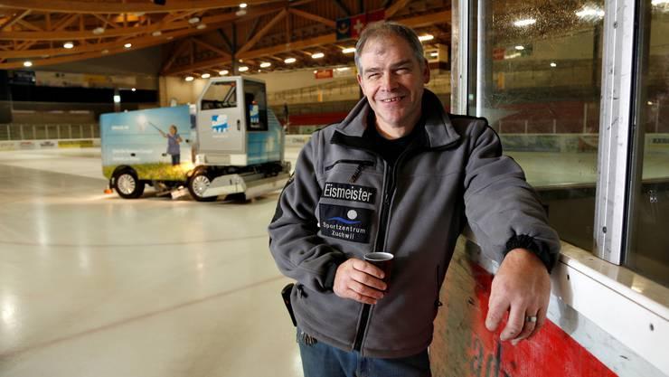 René Kummer ist seit 2005 Eismeister im Sportzentrum Zuchwil.