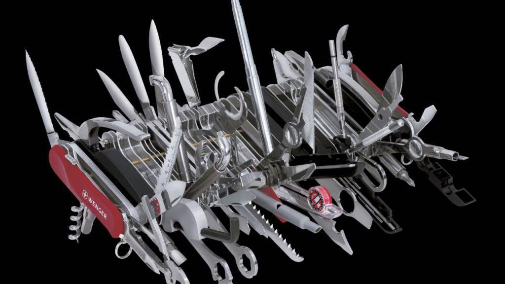 Die neue Beschichtung lässt sich auf verschiedenen Materialien einsetzen. Damit ist sie so vielseitig wie diese Spezialversion eines Schweizer Taschenmessers der Firma Wenger. (Archiv)