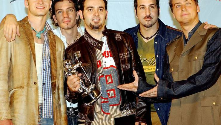 Die Boygroup *NSYNC 2001 auf dem Höhepunkt ihrer Karriere. Jetzt erhält die Gruppe einen Hollywood-Stern.