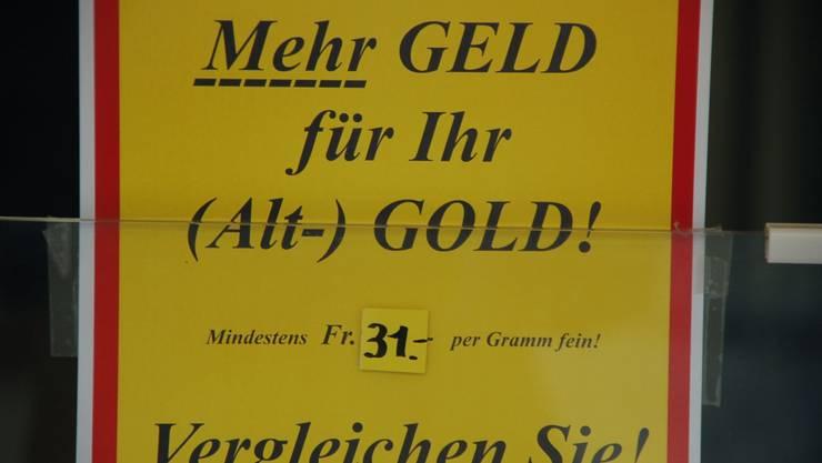 Gold ist in Aarau unterschiedlich wertvoll