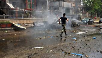 Quartier in Aleppo vor wenigen Tagen nach einem Raketenbeschuss