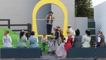 Bühne Burgäschi mit der Freilicht-Oper «Der Vogelhändler»