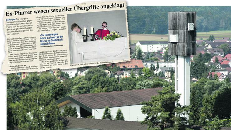 2012 wurde Pfarrer Stefan Küng schuldig gesprochen. Vor seinem Amtsantritt in Aadorf im Jahr 2000 war er zwei Jahre lang in Döttingen (Bild) tätig.
