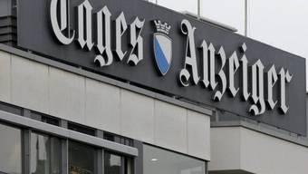 """Das Logo des """"Tages-Anzeigers"""" in Zürich"""