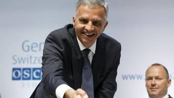 Als Bundespräsident und OSZE-Vorsitzende war für Didier Burkhalter dieses Jahr viel Händeschütteln angesagt.