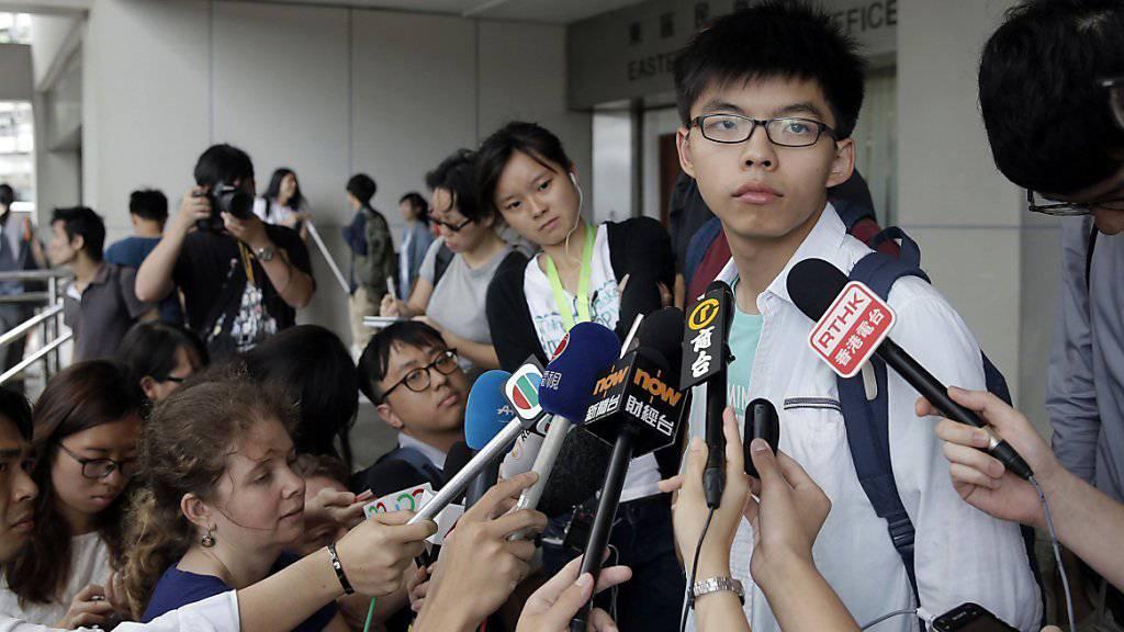 Joshua Wong bezeichnete den Prozess gegen ihn als «politische Verfolgung».